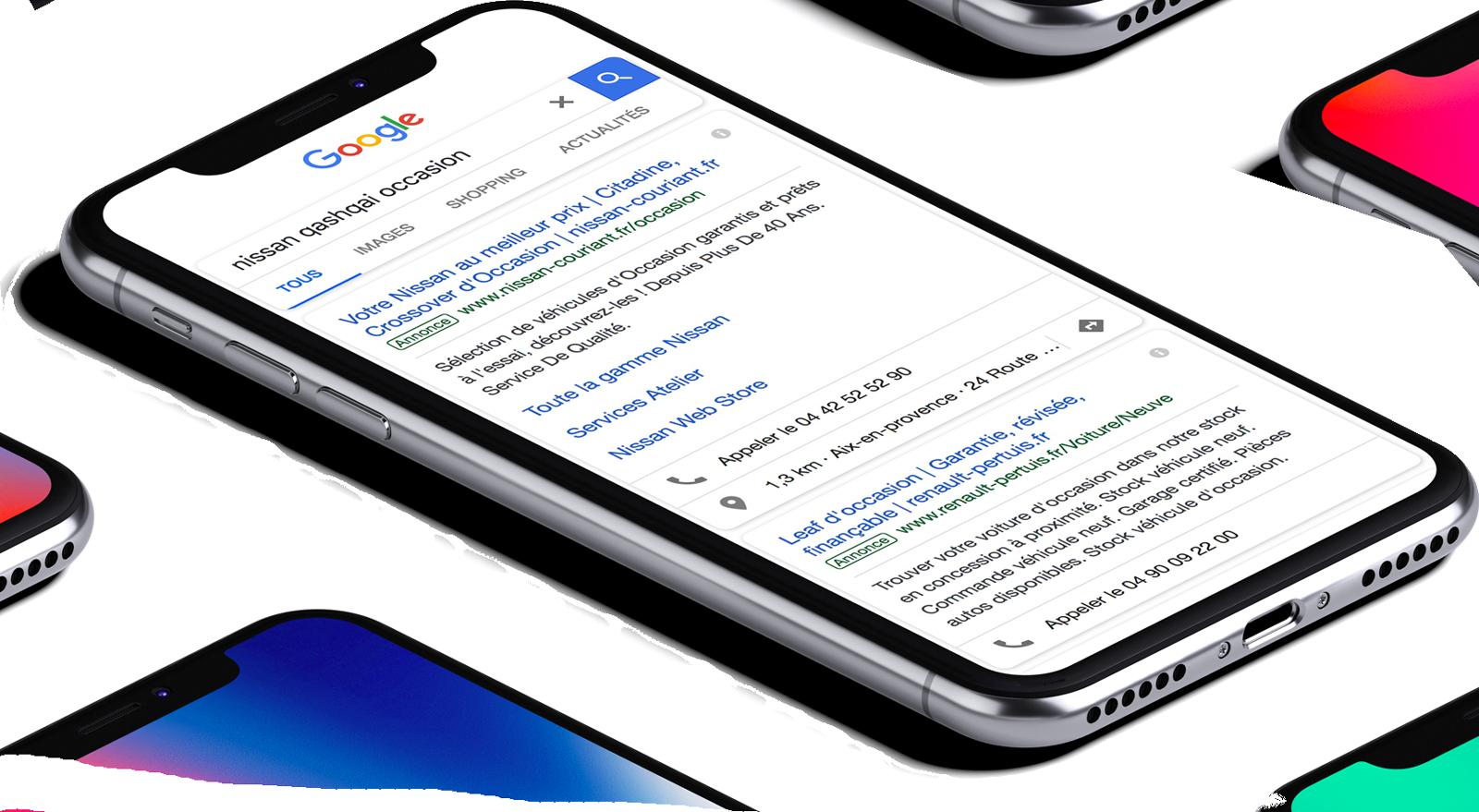 Campagne de publicité sur Google Adwords