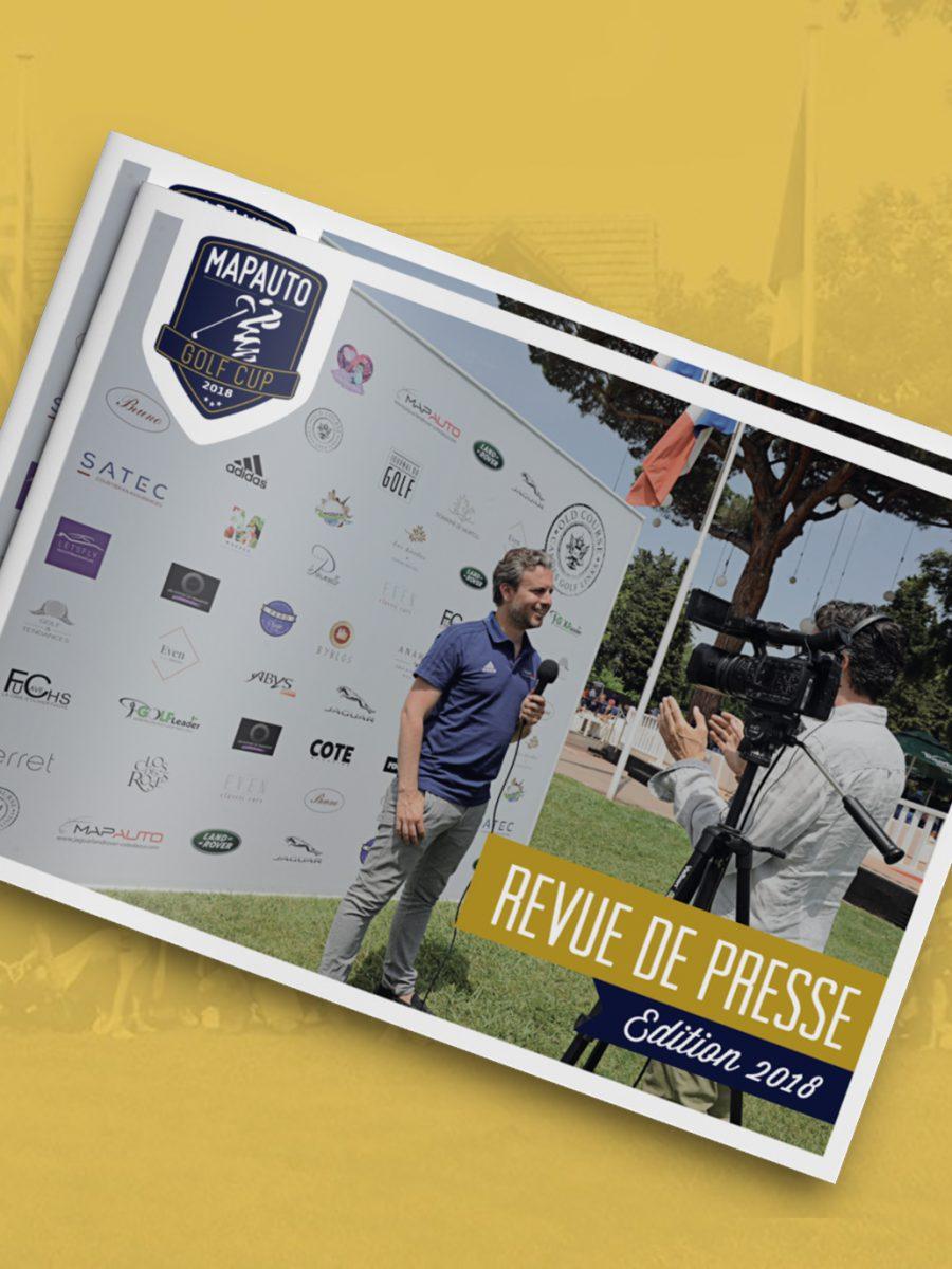 Brochure revue de presse Mapauto Golf Cup