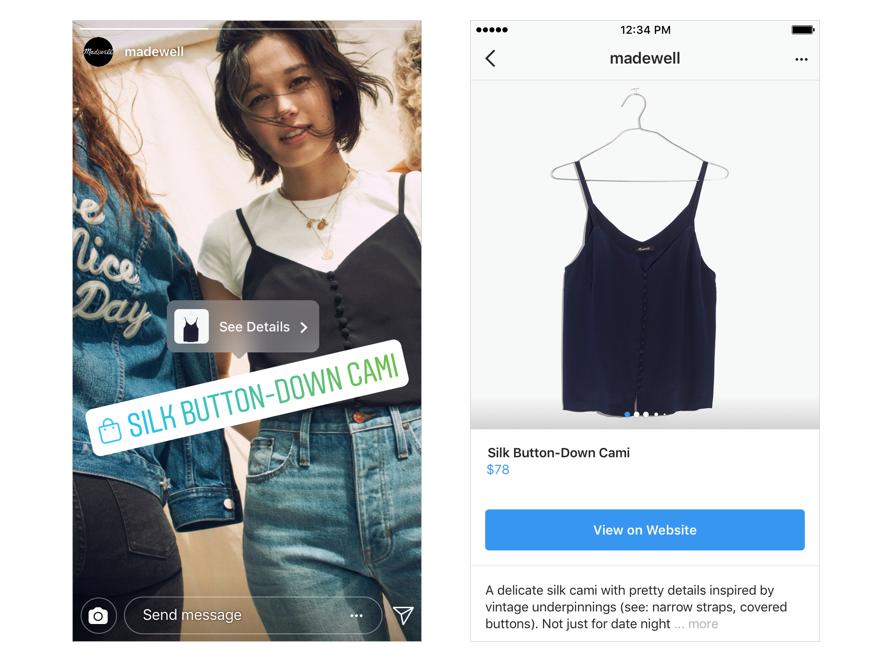 Instagram: l'appli renforce ses fonctionnalités e-commerce