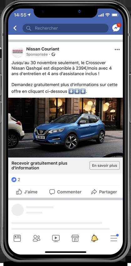 Publicité Nissan Couriant