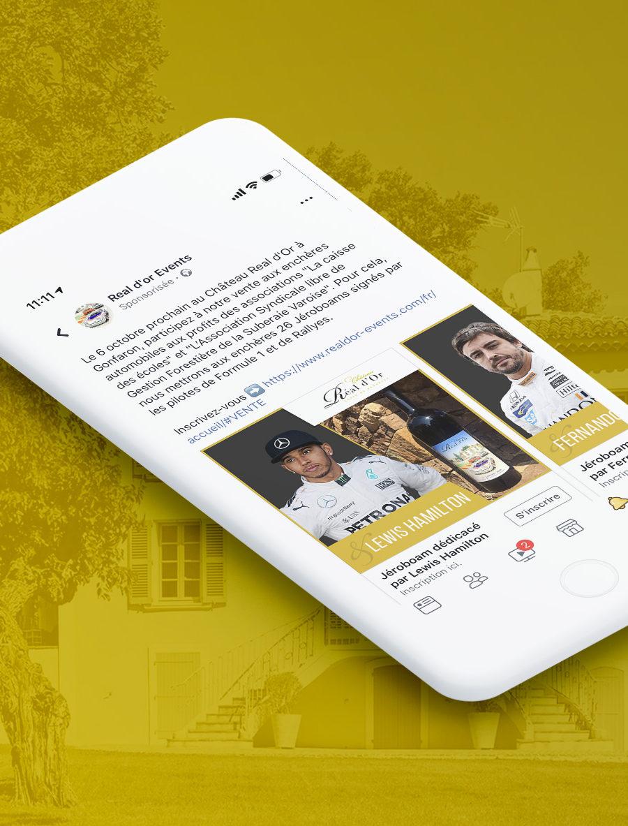 Gestion d'une campagne Facebook Ads pour la promotion de Real d'Or Events