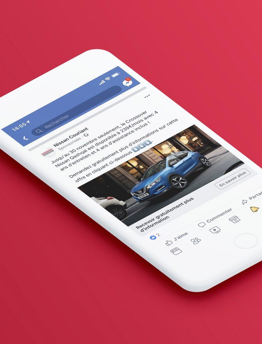 Captation de leads sur Facebook pour Nissan Couriant