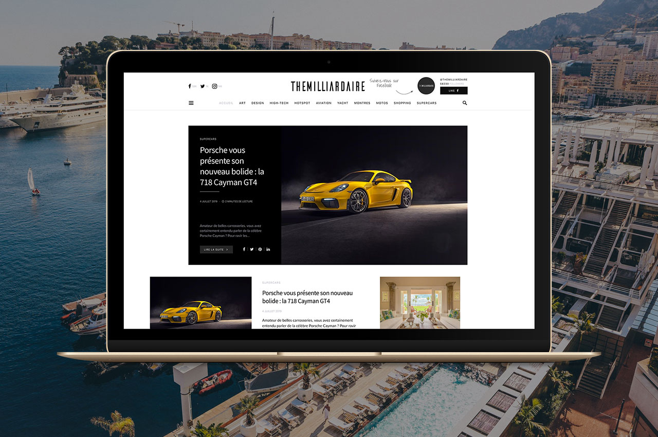 K Publishing réalise le nouveau site de The Milliardaire