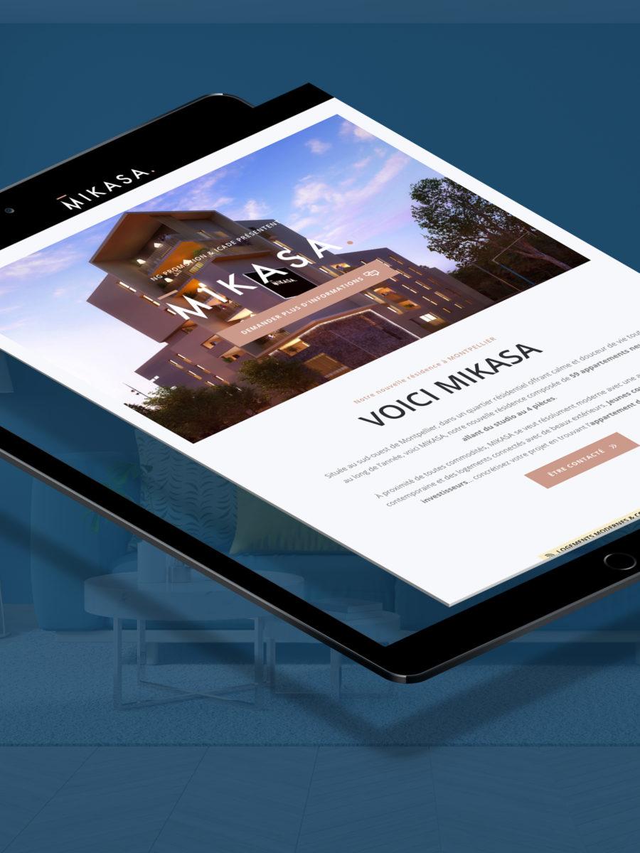 Développement de la visibilité digitale de Icade Promotion